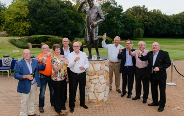 Celebrating the new Bobby Locke statue at Parkview Golf Club in Johannesburg. (Image by Kevin Wright)